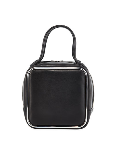 Halo Supple Calf Leather Top-Handle Bag