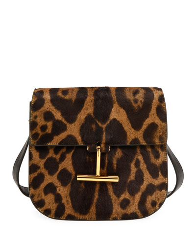 Leopard Calf Hair Shoulder Bag
