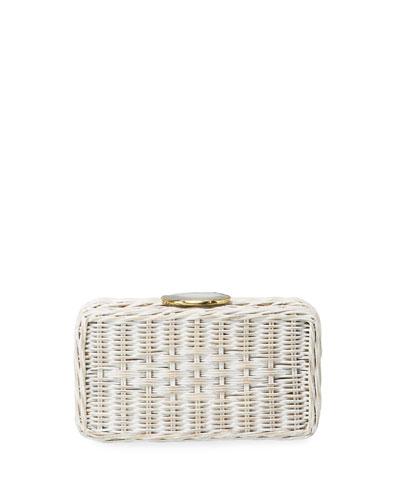 Sanibel Wicker Clutch Bag