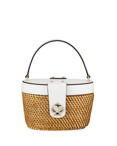 rose medium basket bucket bag