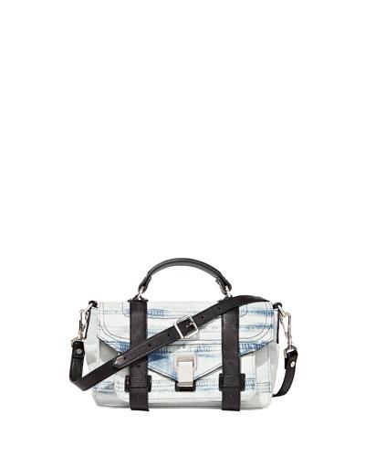 PS1 Tiny Denim Satchel Bag