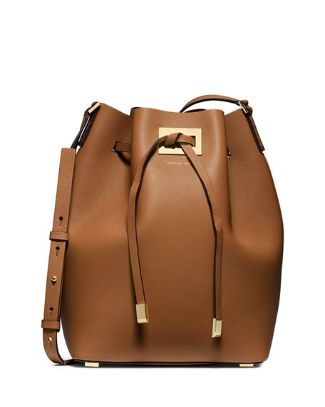 Michael Kors Miranda Large Drawstring Messenger Bag, Luggage