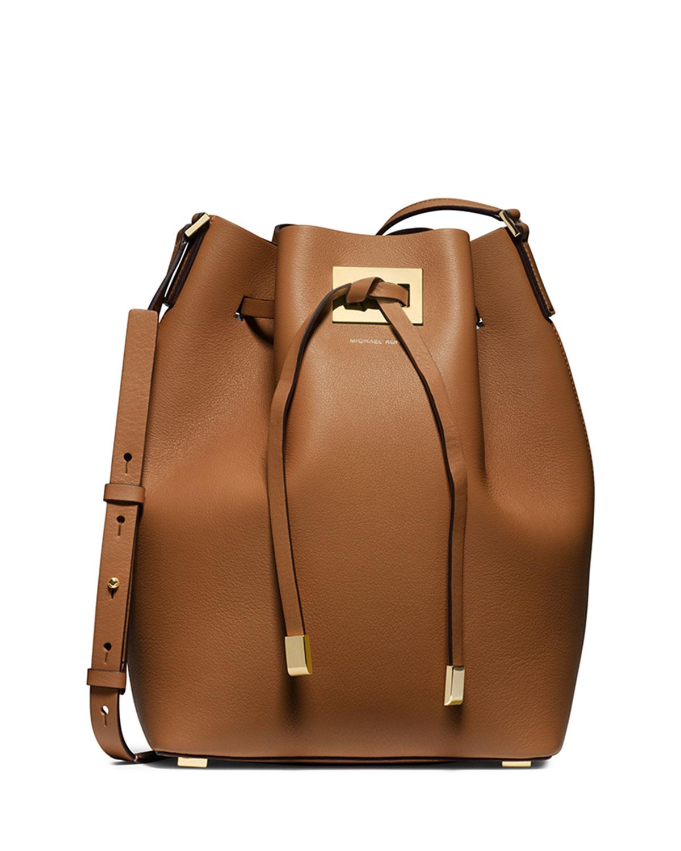 1e9d5a132145 Michael Kors Miranda Large Drawstring Messenger Bag