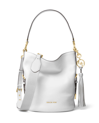 ecbc3bc67bbd MICHAEL Michael Kors Brooke Medium Leather Bucket Bag