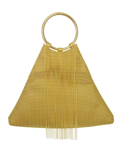 Triangle Fringe Clutch Bag