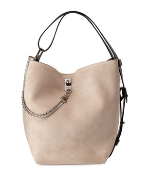 4ea87812fbac Givenchy GV Medium Suede Bucket Bag
