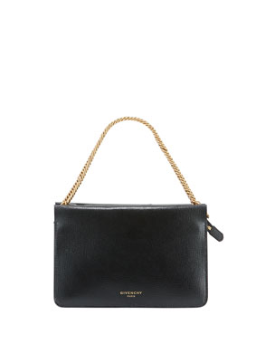 c9f001d7393 Givenchy Cross Small Leather Crossbody Bag