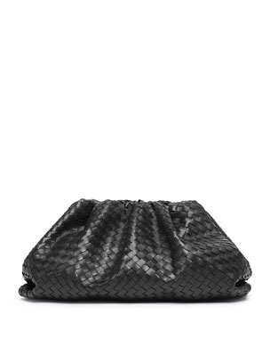 Bottega Veneta Lauren Intrecciato Soft Pouch Clutch Bag b1261d0e336d2