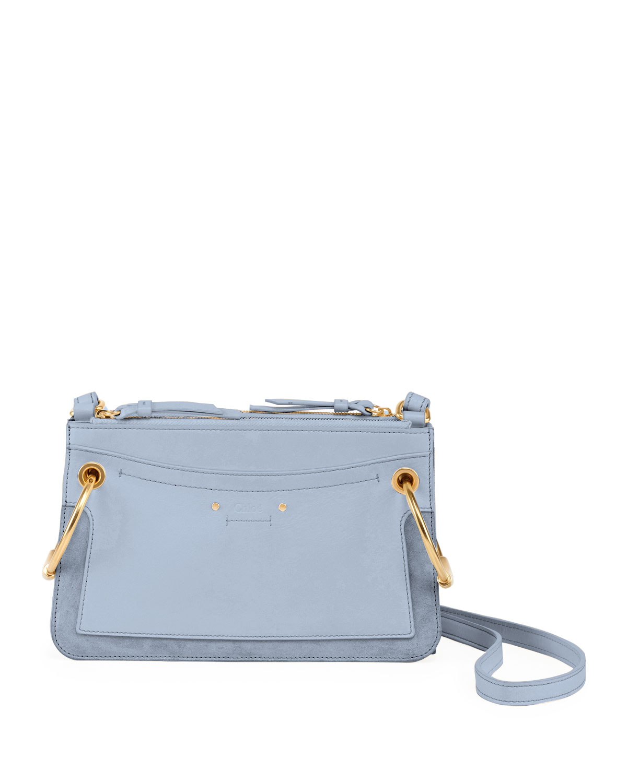 18688e1c9bc7 Chloe Roy Mini Leather Suede Double-Zip Shoulder Bag