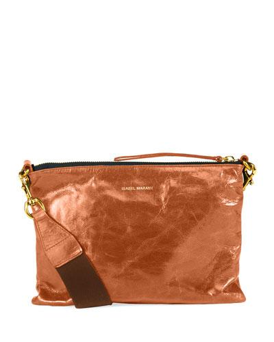 Nessah Leather Shopper Crossbody Bag