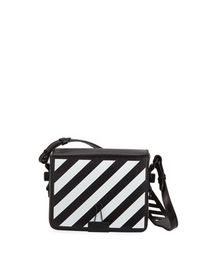 127f4737c828 Off-White Diagonal Small Leather Shoulder Bag