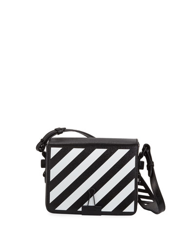 Diagonal Small Leather Shoulder Bag