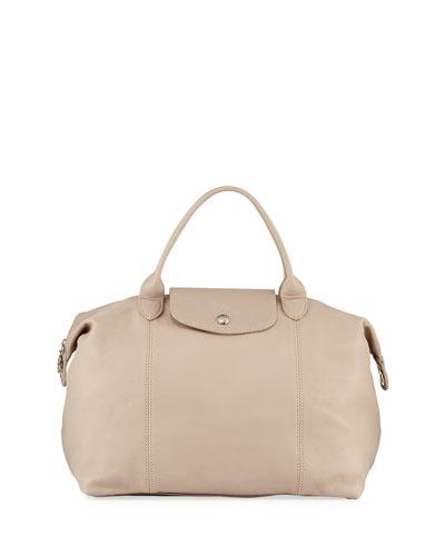Le Pliage Cuir Medium Handbag