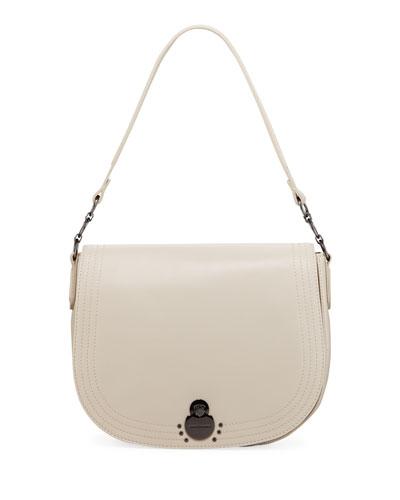 Cavalcade Large Leather Shoulder Saddle Bag
