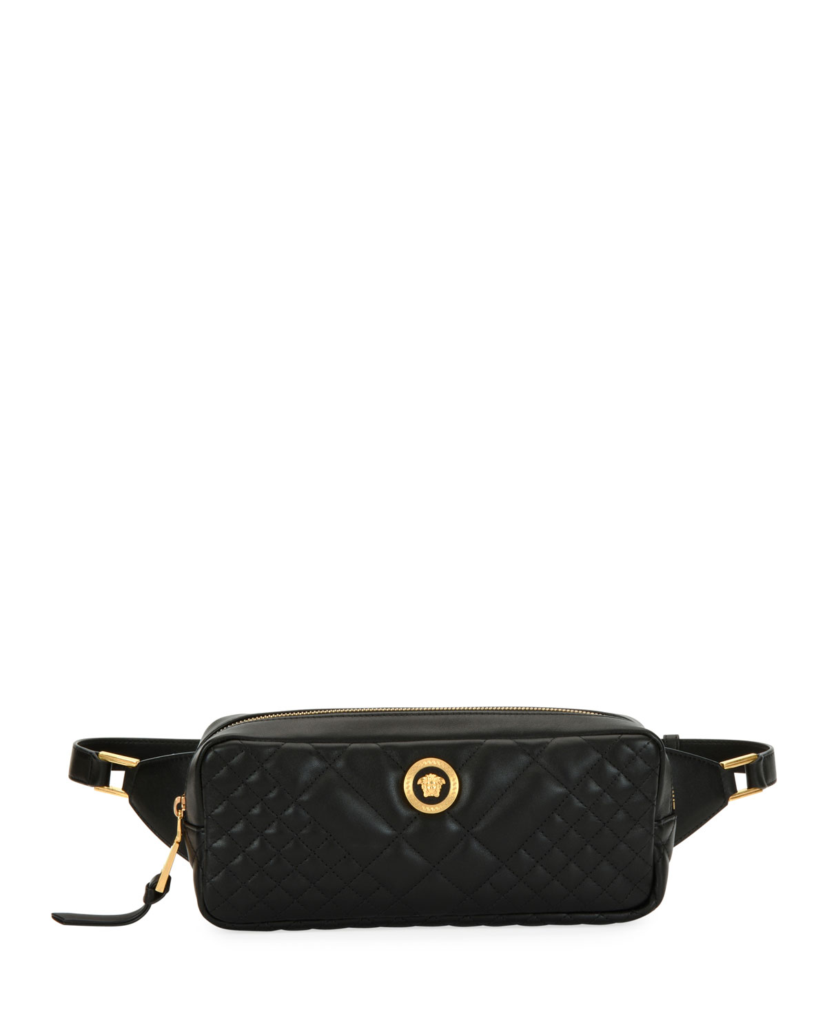 b8c18a07b833 Versace Icon Quilted Leather Belt Bag