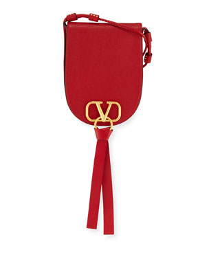 6d62697424 Valentino Garavani Vee Ring Small Crossbody Saddle Bag