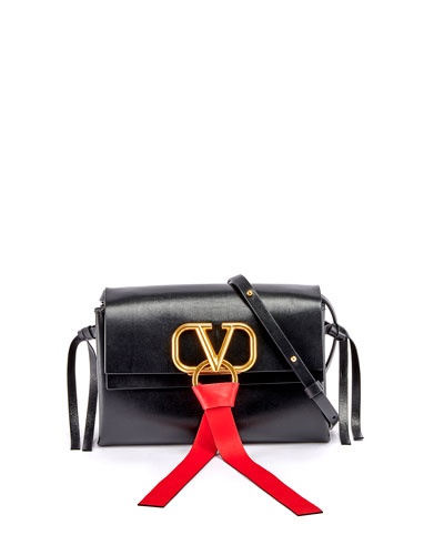 Vee Ring Leather Crossbody Bag