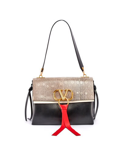 Vee Ring Medium Shoulder Bag