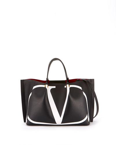 Go Logo Escape Medium Leather Tote Bag