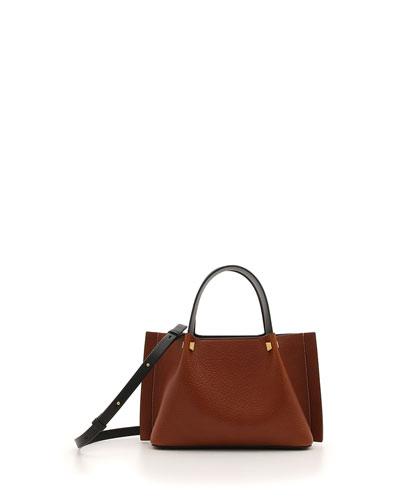 Go Logo Escape Small Lamb Leather Tote Bag
