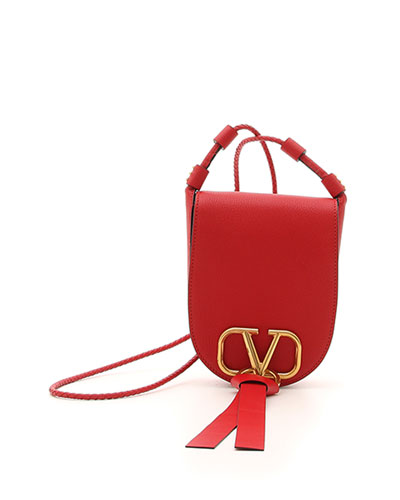 Vee Ring Small Leather Saddle Bag