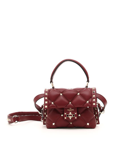 CandyStud Mini Leather Top-Handle Bag