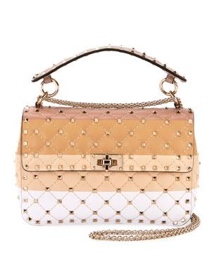 73585cbeb706 Valentino Garavani Spike.It Medium Colorblock Leather Shoulder Bag