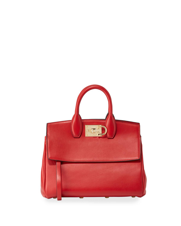 Salvatore Ferragamo The Studio Medium Leather Satchel Bag  05ded89455c4c