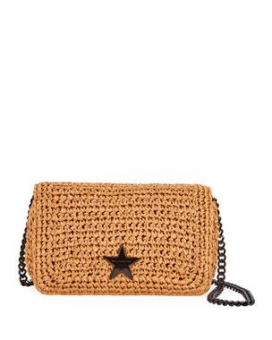 Stella McCartney Small Stella Star Raffia Crochet Shoulder Bag fcf6ea70a1bb2