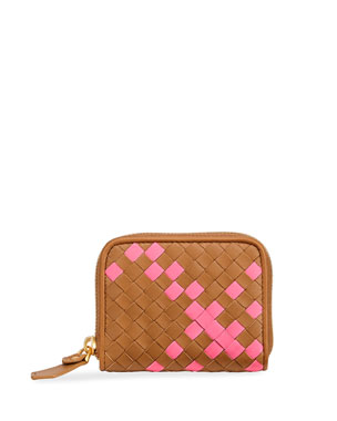 2b9f7110f2 Bottega Veneta Intrecciato Two-Tone Mini Wallet