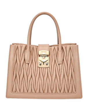dc58e64c3be Miu Miu Confidential Medium Matelasse Tote Bag
