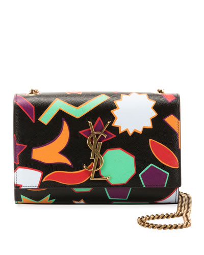 Kate Monogram YSL Small Shapes-Print Crossbody Bag