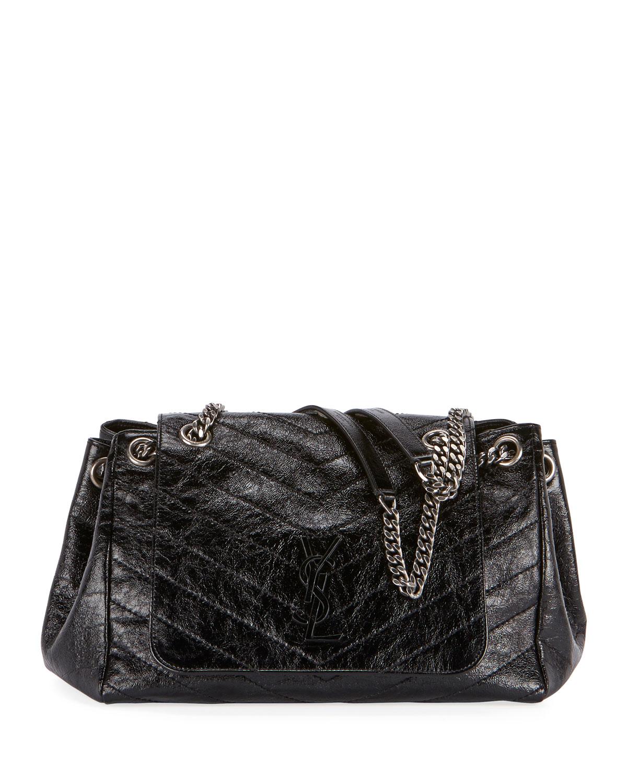 1a20df16da Saint Laurent Nolita Medium Monogram YSL Double Chain Shoulder Bag ...