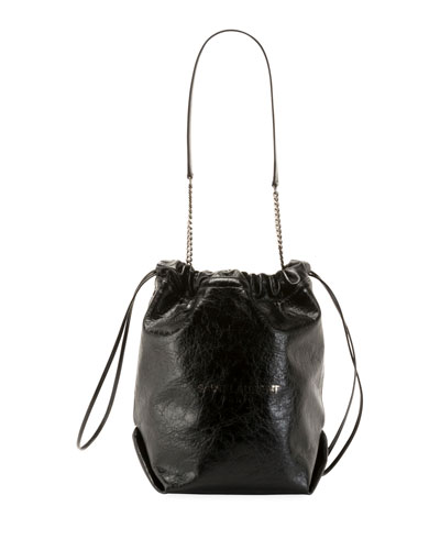 2bed5bbf747954 Saint Laurent Teddy Large Crinkle Leather Drawstring Bucket Bag from Neiman  Marcus - Styhunt