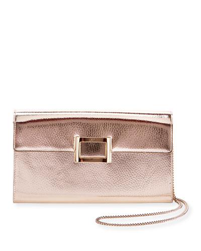 Viv Mirrored Envelope Clutch Bag