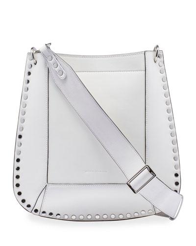Oskan New Studded Leather Hobo Bag