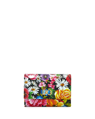 Floral Stampa Dauphine French Wallet