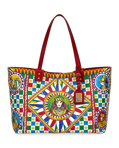 Dolce   Gabbana Beatrice Printed Leather Tote Bag 1bf9dee2b8