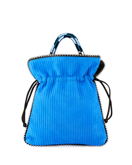 Les Petits Joueurs Trilly Big Suede Drawstring Pouch