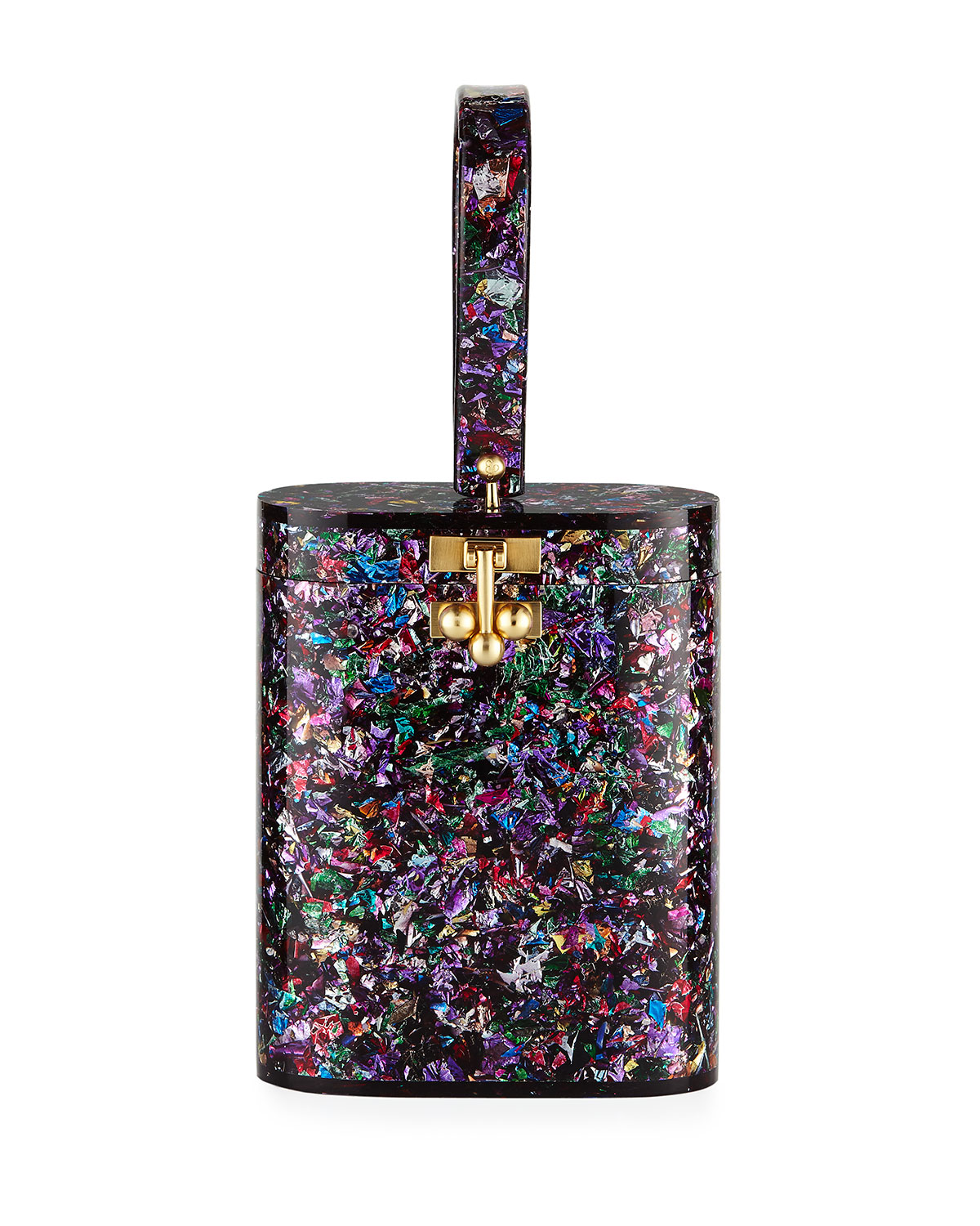 Oval Glitter Minaudiere Bag by Edie Parker