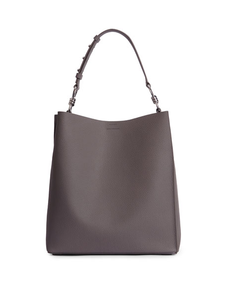 f339fe61f440 AllSaints Captain Tall Pebbled Leather Tote Bag