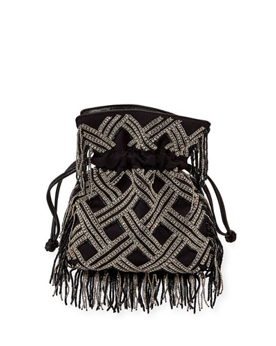 Les Petits Joueurs Trilly Nano Embellished Crossbody Bag