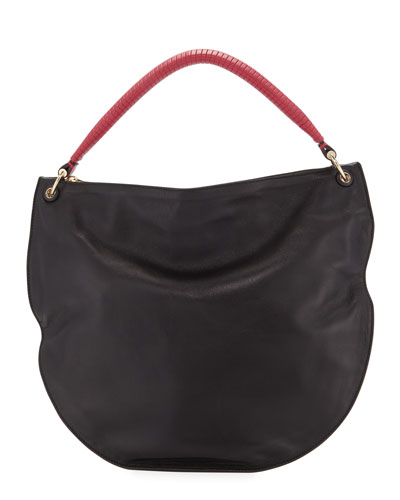 Luna Soft Leather Hobo Bag