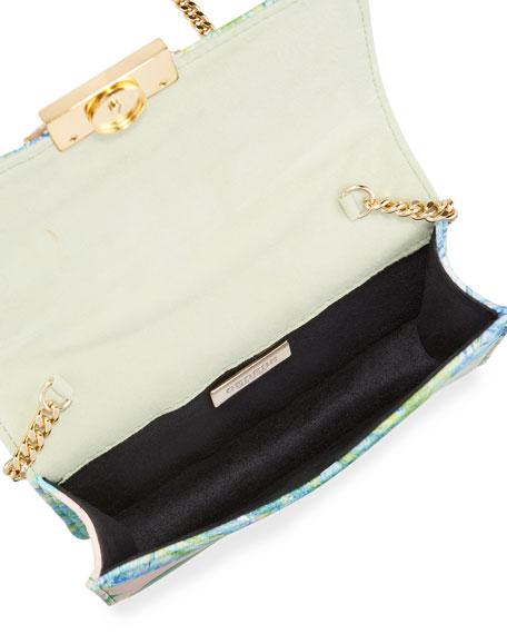 Gedebe Cliky Mini Jeweled Leather Clutch Bag