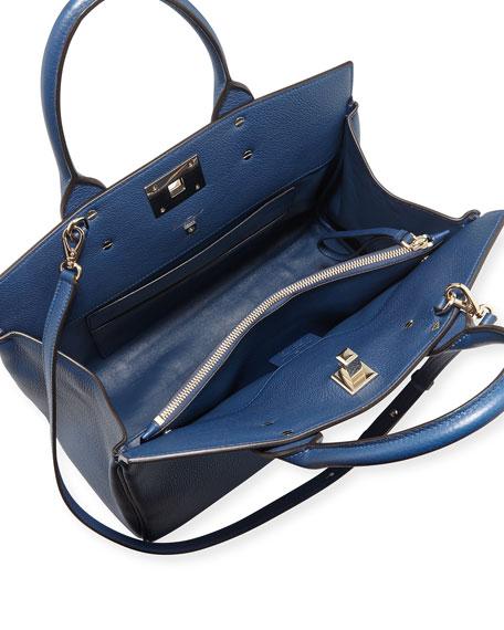 Salvatore Ferragamo Studio Medium Leather Satchel Bag
