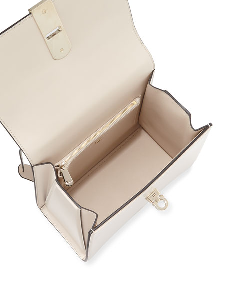 Salvatore Ferragamo Boxy Medio Calfskin Shoulder Bag