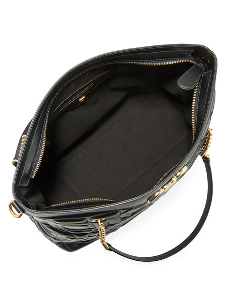 Salvatore Ferragamo Gancio Grande Quilted Leather Shoulder Bag
