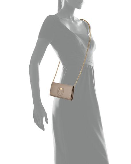 Salvatore Ferragamo Gancio City Leather Wallet Bag, Beige
