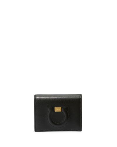 Gancio City Leather Wallet  Black