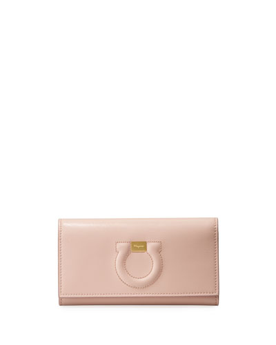 Gancio City Leather Wallet Bag  Light Pink